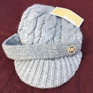 Michael Kors Gold Logo Heather knit Hat